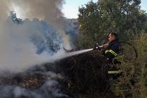 Ormanlık alanda çıkan yangın kısa sürede söndürüldü