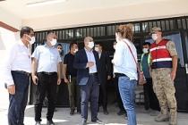 Vali Demirtaş, Okul İnşaatlarında İncelemelerde Bulundu