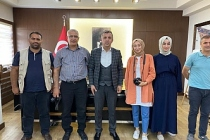 Gazetecilerden Kaymakam Solmaz'a ziyaret