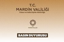 Mardin'de Toplantı ve Gösteri Yürüyüşler Yasaklama Kararı