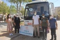 Yeşilli'de Gezici Sağlık Aracında Aşı Çalışması