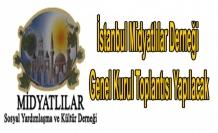 İstanbul Midyatlılar Derneği Genel Kurul Toplantısı Yapılacak