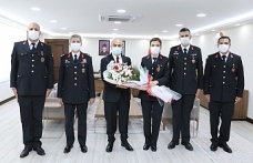 Jandarma'dan Vali Demirtaş'a 182. Yıl Ziyareti