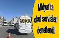 Midyat'ta de okul servisleri denetlendi