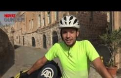 Fransız 2 aile hekimi, bisikletle Midyat ilçesini gezdi