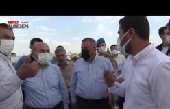 Vali Demirtaş, Milletvekili Dinçel Ve Başkan Şahin, Midyat'ta İncelemelerde Bulundu