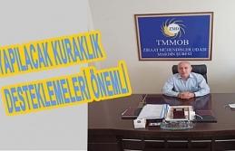 Ziraat Mühendisleri Odası Mardin Şube Başkanı Durak, Kuraklık Desteklemeleri önemli
