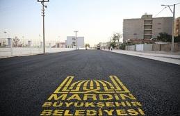 Kızıltepe Stadyum Caddesinde Asfalt Serimi Başladı