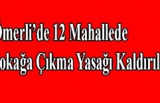Ömerli'de 12 Mahallede Sokağa Çıkma Yasağı...
