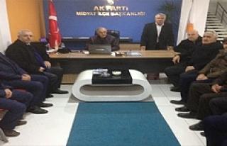 AK Parti İl Başkanı Eri, İlçe Teşkilatlarını...