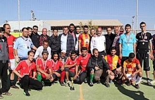 Sığınmacılar için düzenlenen futbol turnuvası...
