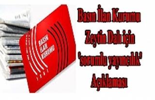 BİK'ten, Zeytin Dalı için 'sorumlu yayıncılık'...
