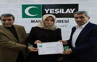 Yeşilay bilgisayar kursu katılımcılarına sertifika