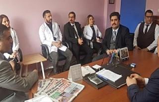 Yavuz, Ömerli Devlet Hastanesinde İncelemelerde...