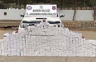 Jandarma8 Bin 434 Paket Kaçak Sigara Ele Geçirdi