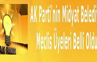AK Parti'nin Midyat Belediye Meclis Üyeleri...