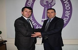 Diyarbakır DİYMESOB Başkanı Asana, Direkçi ile...