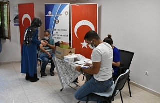 Mardin Büyükşehir Belediye çalışanları aşı...