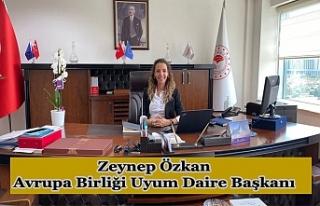 Zeynep Özkan, Avrupa Birliği Uyum Daire Başkanı...