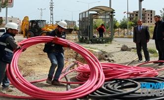 Ömerli'de Elektrik Altyapısı Yeraltına Alınıyor