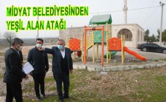 Midyat Belediyesinden Yeşil Alan Atağı