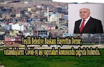 Başkan Hayrettin Demir'den vatandaşlara aşı çağrısı