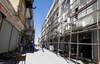 Tarihi Nusaybin Kapalı Çarşısında Çalışmalar Devam Ediyor