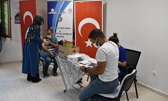 Mardin Büyükşehir Belediye çalışanları aşı oldu