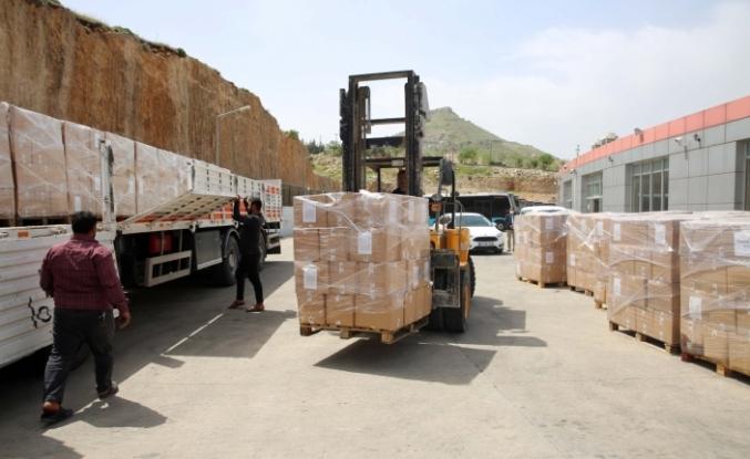 Suriyeli İhtiyaç Sahibi Ailelere Gıda ve Temizlik Malzemesi Dağıtımı