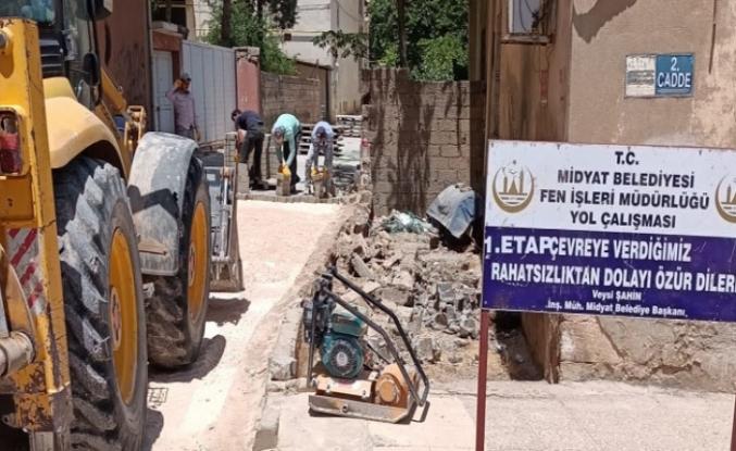 Midyat'ta Kilitli Parke Çalışmaları Devam Ediyor