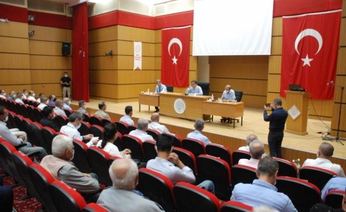 Midyat'ta Temmuz Ayı Muhtarlar toplantısı gerçekleşti