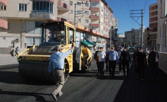 Midyat'ta asfalt çalışması tamamlandı