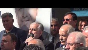 AK Parti Midyat Belediye Başkanı Şehmus Nasıroğlu ve Veysi Şahin Seçim Çalışmaları