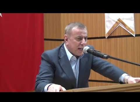 Prof. Dr. Nihat Hatipoğlu Midyat'ta konferans verdi