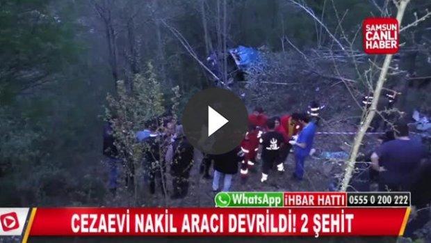 Cezaevi Aracı Uçuruma Yuvarlandı: 2 Şehit, 15 yaralı