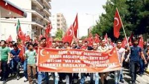 Midyat'lılardan terör örgütü PKK'ya tepki