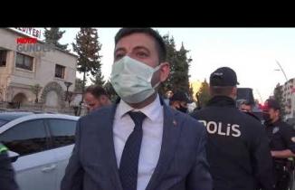 Midyat'ta, Kavga ihbarına gelen polise pasta sürprizim